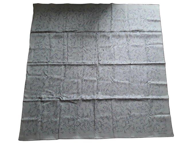 Hermès Horses Grey Silk Cotton  ref.153401