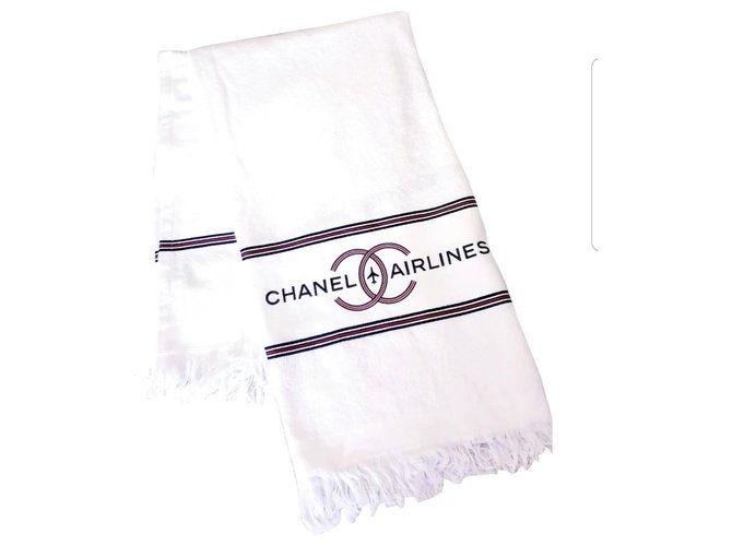 Chanel Chanel XL briefcase, limited edition Misc Cotton White,Red,Navy blue ref.153464