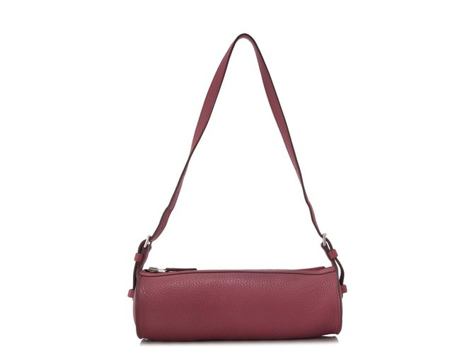 Hermès Hermes Purple Taurillon Clemence Doremi Handbags Leather,Pony-style calfskin Purple ref.153484