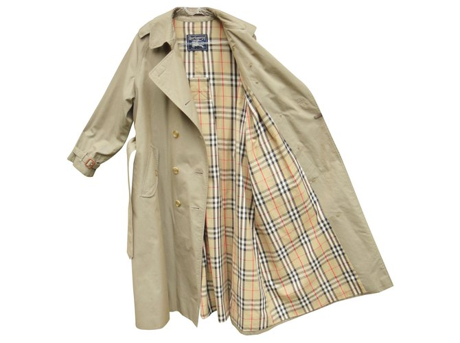 Vintage Burberry Trench 44 Pure Cotton, Trench Coat Vintage Burberry