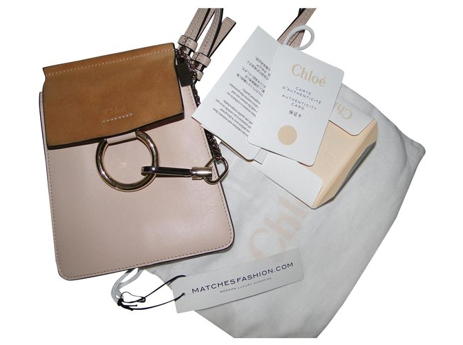 Chloé Pink CHLOE Faye bracelet bag Handbags Leather Pink,Peach ref.153614
