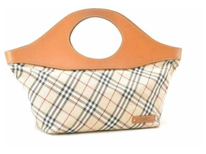 Burberry Burberry Nova Check Hand Bag Handbags Cloth Beige ref.153628
