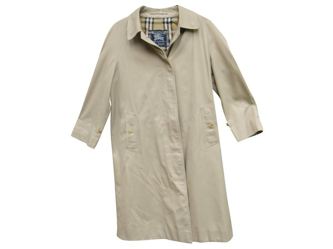 Burberry raincoat woman Burberry vintage size 40 Trench coats Cotton,Polyester Beige ref.153680