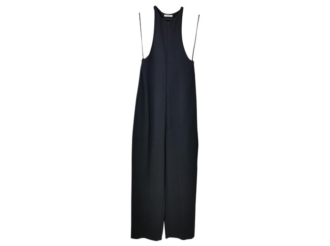 Céline Jumpsuits Jumpsuits Silk,Viscose,Elastane,Acetate Black ref.153780