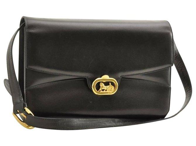 Céline Celine Leather Shoulder Bag Handbags Leather Black ref.153849