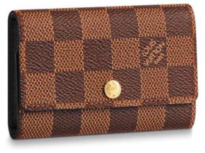 Louis Vuitton Louis Vuitton Key Holder Purses, wallets, cases Leather Brown ref.154063
