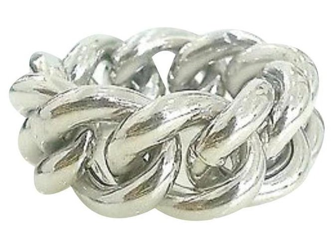 Bagues Autre Marque Groumette ring in silver and white gold Or blanc,Argent Argenté ref.154239