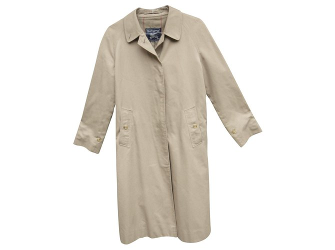 Burberry raincoat woman Burberry vintage size 38 Trench coats Cotton,Polyester Light brown ref.154314