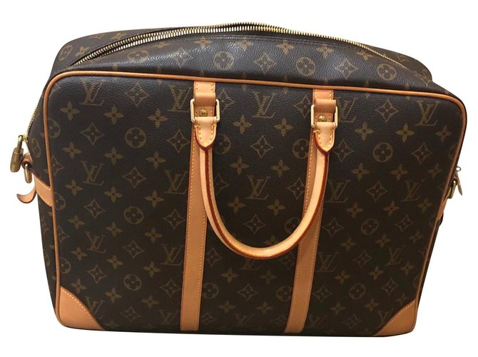 Louis Vuitton Porte voyage GM Travel bag Cloth Brown ref.154454