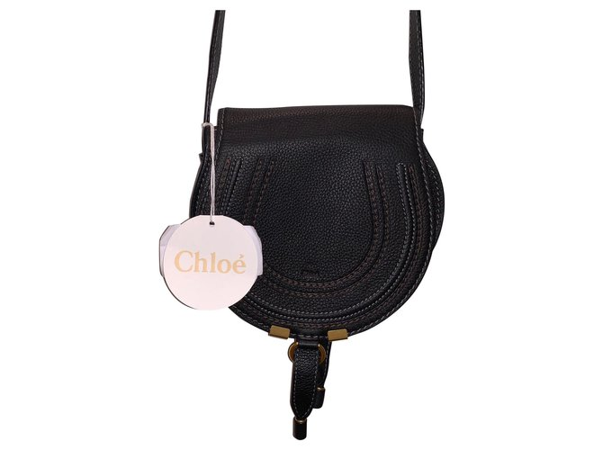 Chloé Marcie Mini Handbags Leather Black ref.154491