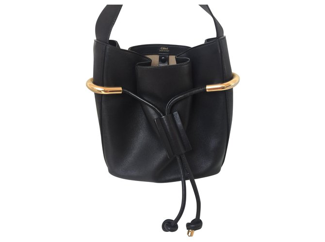 Chloé Emma model Chloé bag Handbags Leather Black ref.154509