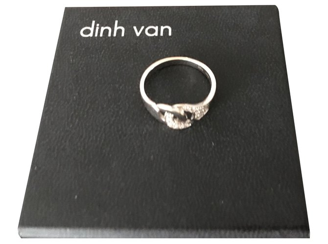 Dinh Van cuffs Rings White gold Silvery ref.154518