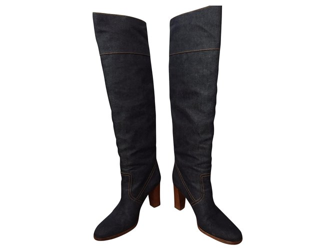 "Hermès Boots woman model ""Far away"" Boots Denim Blue ref.154546"