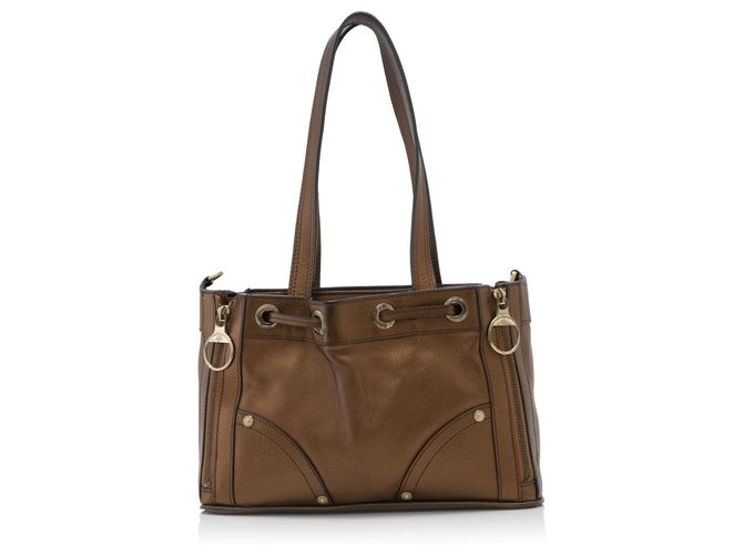Brown Leather Poppy Square Tote Totes