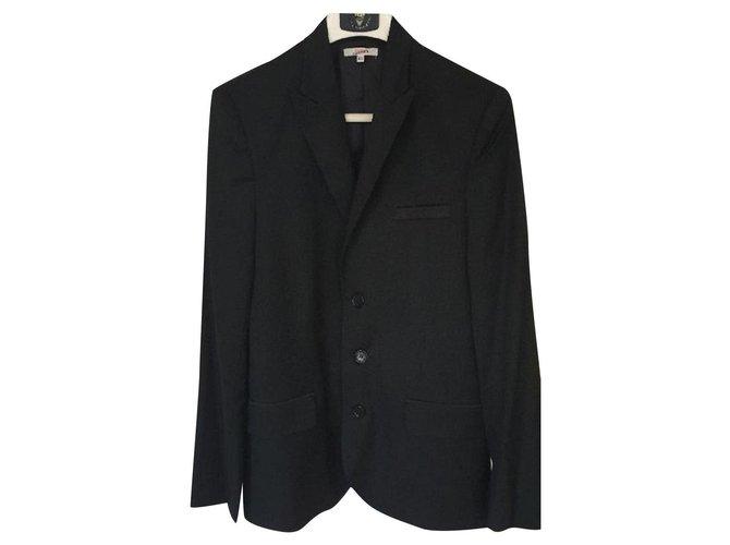 Blousons, manteaux garçon Jean Paul Gaultier Veste Gaultier Junior Taille 16 ans Laine Noir ref.154702