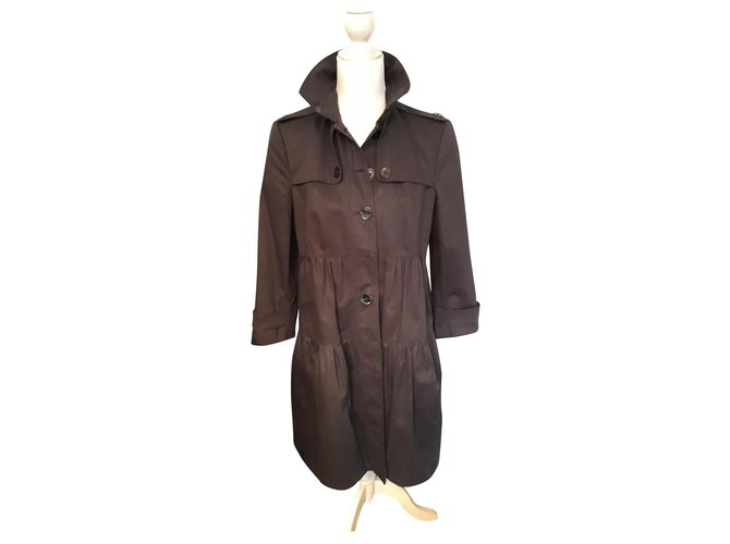 Burberry Trench coats Trench coats Cotton Black ref.154734
