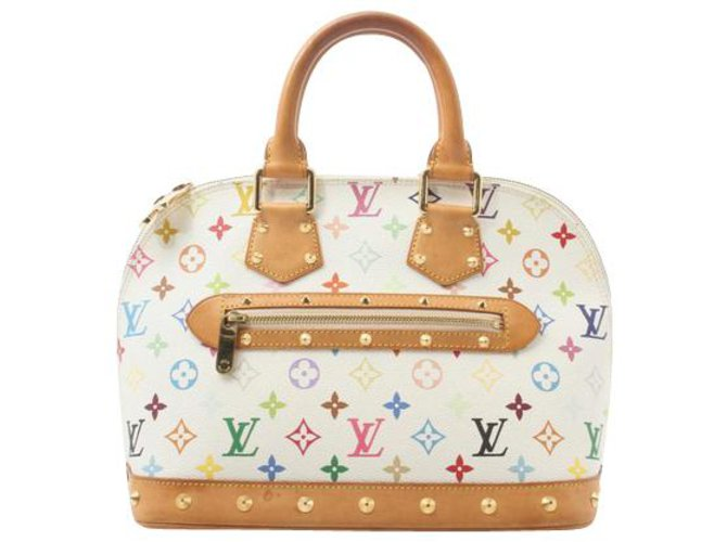 Sacs à main Louis Vuitton Louis Vuitton Alma Cuir Blanc ref.154914
