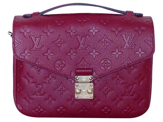 Louis Vuitton Louis Vuitton bag Métis Leather Clutch Leather Monogram Handbags Leather Red ref.154955