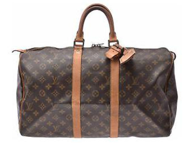 Sacs de voyage Louis Vuitton Louis Vuitton Keepall 45 Toile Marron ref.155160