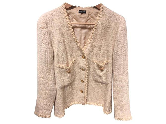 Chanel Jackets Jackets Wool Beige ref.155264