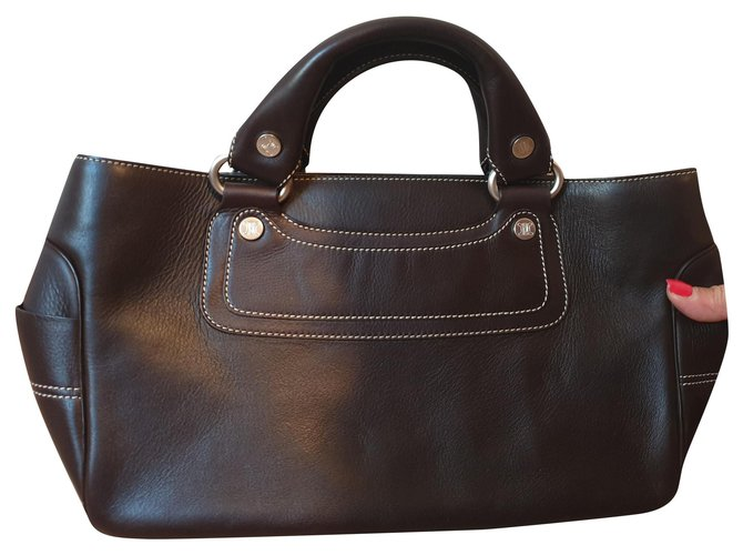 Céline Celine Handbags Leather Brown ref.155403