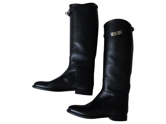 Hermès Boots Boots Leather Black ref.155493