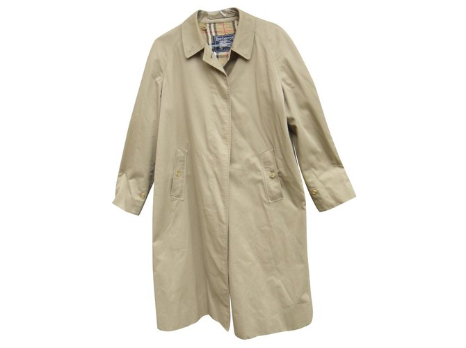 Burberry raincoat woman Burberry vintage size 42 with removable wool lining Trench coats Cotton,Polyester,Wool Beige ref.155705