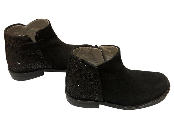 Bottes, bottines Tartine et Chocolat boots Cuir Noir ref.155743