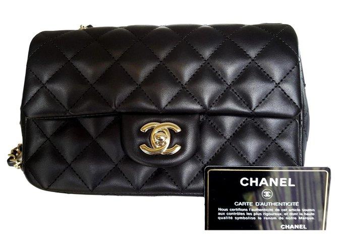 Sacs à main Chanel timeless rectangular Cuir d'agneau Noir ref.155911