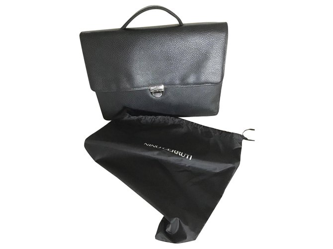 Cerruti 1881 Bags Briefcases Bags Briefcases Leather Black ref.155987