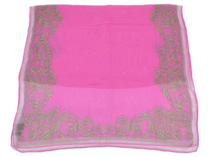 Versace Versace stole Silk scarves Silk Pink ref.156151