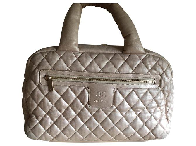 Sacs à main Chanel SAC CHANEL COCOON EN CUIR AGNEAU DORE TRES CLAIR Cuir d'agneau Doré ref.156242