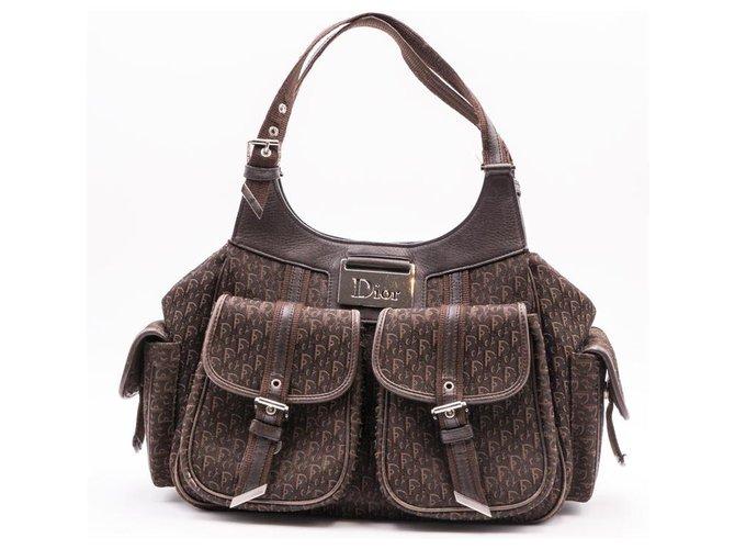 Christian Dior Christian Dior Diorissimo Handbags Cloth Light brown ref.156433