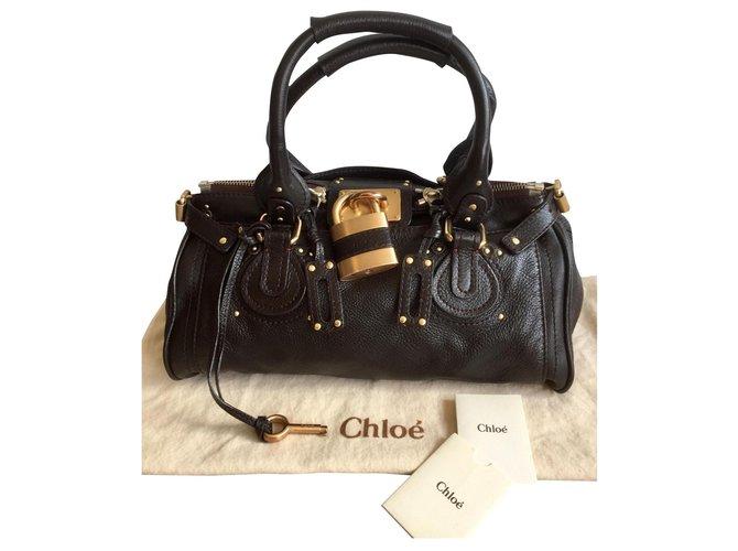 Chloé Superb bag Chloé Paddington condition NINE Handbags Leather Dark brown ref.156435