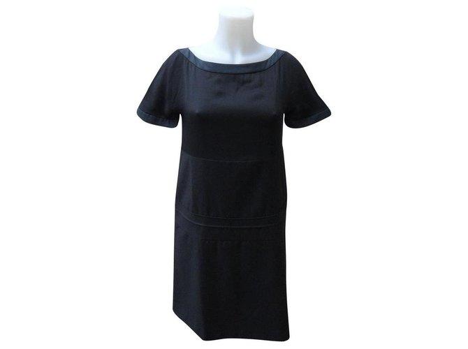 Chloé Dresses Dresses Silk,Wool Black ref.156536