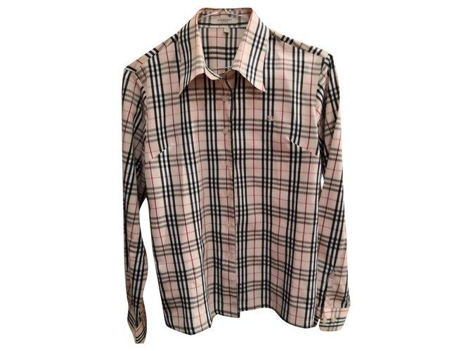 Burberry Beautiful burberry shirt Tops Cotton Beige ref.156704