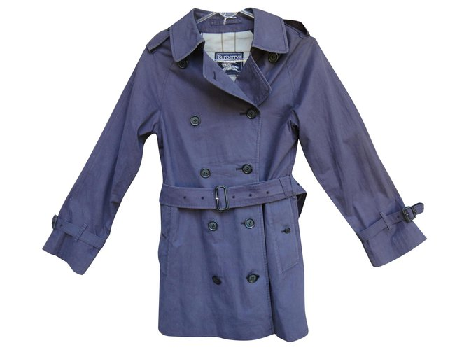 Burberry vintage Burberry women's trench coat 36 Trench coats Cotton Purple ref.157137