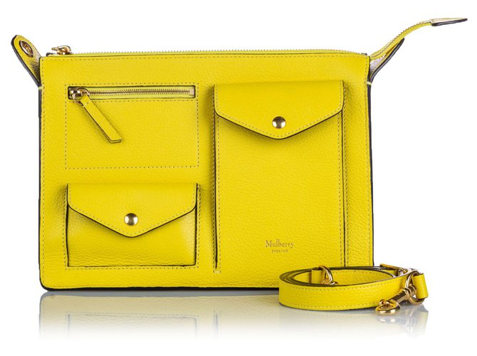 Mulberry Mulberry Yellow Leather Cherwell Satchel Handbags Leather,Other Yellow ref.157297