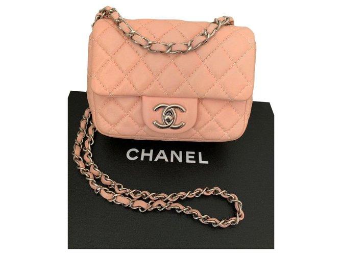 Sacs à main Chanel Chanel Classique Cuir Rose ref.157561