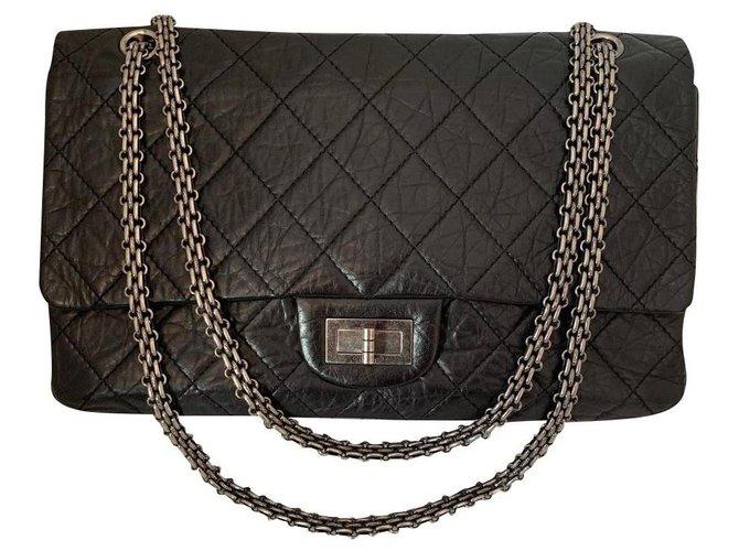 Chanel Chanel 2.55 Handbags Leather Black ref.157843