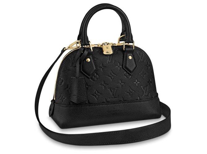 Louis Vuitton Neo LV alma BB Handbags Leather Black ref.158515