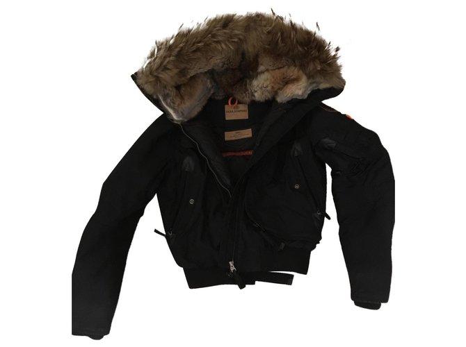 Parajumpers Puffy jacket Black Fur  ref.158719