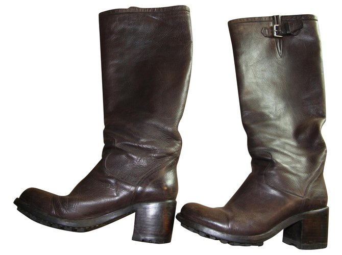 Free Lance Boots Boots Leather Brown ref.158728