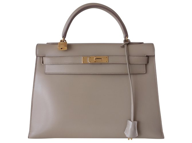 Hermès Hermes Kelly bag 32 Handbags Leather Beige ref.158927