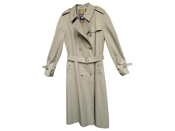 Burberry vintage Burberry women's trench coat 44 Perfect condition Trench coats Cotton,Polyester Beige ref.159092
