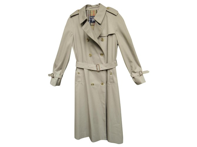 Burberry vintage Burberry women's trench coat 44 Perfect condition Trench coats Cotton,Polyester Khaki ref.159096