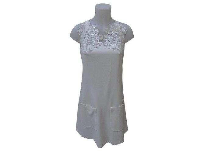 Chloé Dresses Dresses Silk,Viscose,Acetate Cream ref.159144