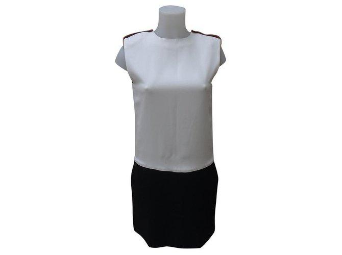Céline Dresses Dresses Silk,Viscose Black,Beige,Cream ref.159253