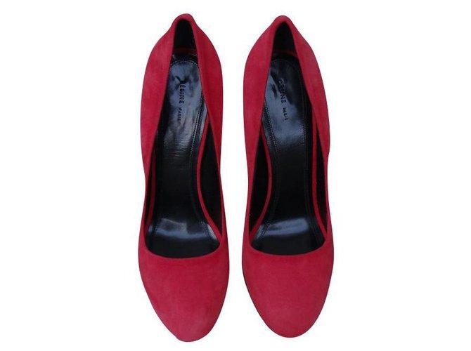 Céline Heels Heels Leather Red ref.159280