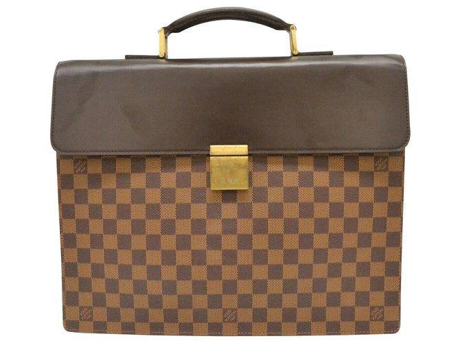 Décoration divers Louis Vuitton Louis Vuitton Damier Satchel Businessn Altona PM Toile Marron ref.159438
